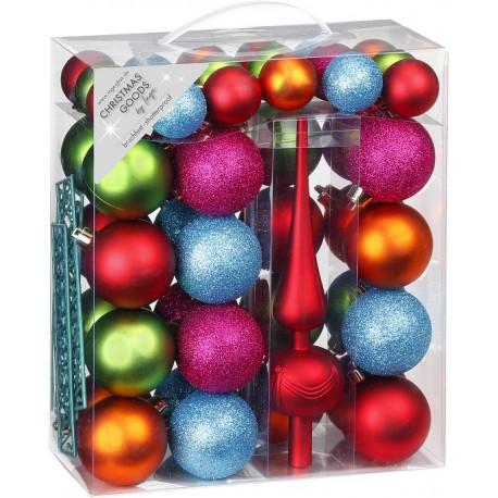 47 Delige Onbreekbare Kerstballen Set met piek