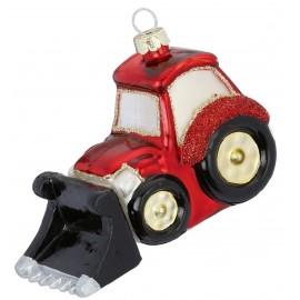 Kerstbal Bulldozer