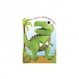 Dubbel kaart Dinosaur T-Rex