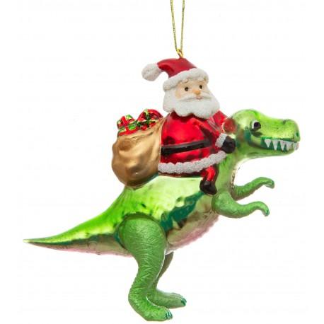 Kerstbal Kerstman op Dino