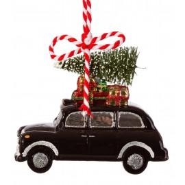 Kerstbal London Taxi zwart