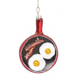 Kerstbal Koekenpan Eieren met Spek