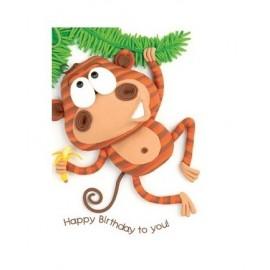 Dubbel kaart Monkey