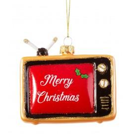 Kerstbal Retro Televisie