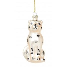 Kerstbal Sneeuw Luipaard