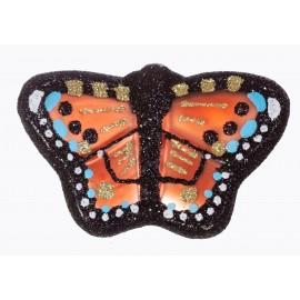 Kerstbal Vlinder op clip