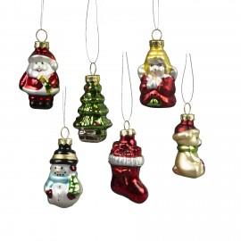 Kerstballen Mini  set 6 figuren