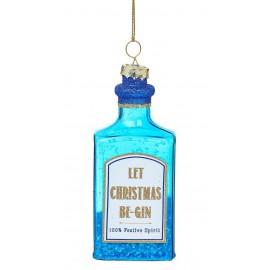 Kerstbal Fles Blauwe Gin