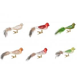 Set van 6 Mini Kerstvogels op clip