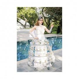 Fotokaart Champagne Lady