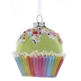 Kerstbal Cupcake Groen