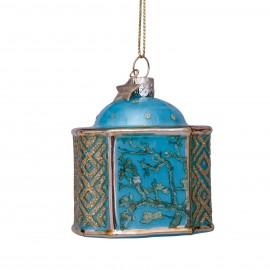 Kerstbal van Gogh Voorraadpot Amdelbloesem  blauw