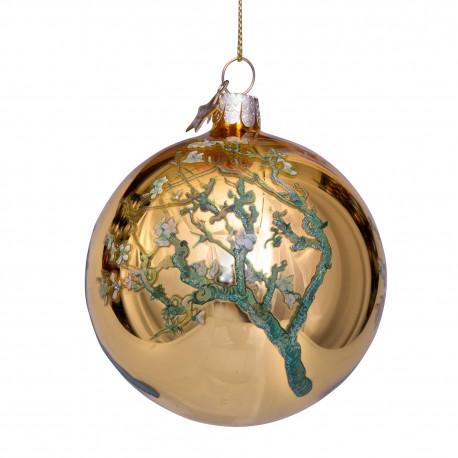 Kerstbal van Gogh Amandelbloesem Goud
