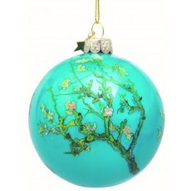 Kerstbal van Gogh Amandelbloesem Blauw