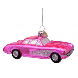 Kerstbal Roze Auto