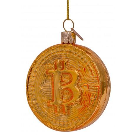 Kerstbal Bitcoin Goud