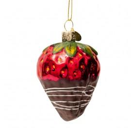 Kerstbal Aardbei Choco Dip