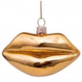 Kerstbal Lippen Goud