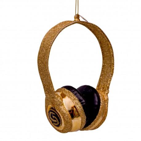 Kerstbal  Headset Goud