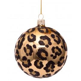 Kerstbal Print Luipaard