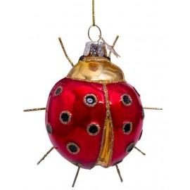 Kerstbal Lieveheersbeestje Rood-goud