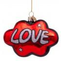 Kerstbal Wolk Love