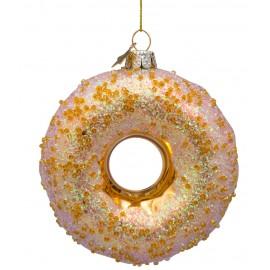 Kerstbal Donut Goud met Glitters