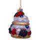 Kerstbal Fruit Gebakje met Slagroom