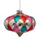 Kerstbal Onion Diamant Roze-oranje