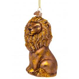 Kerstbal Zittende Leeuw Goud