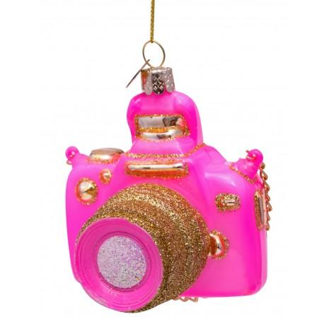 Kerstbal Camera Roze-goud