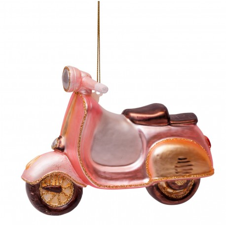 Kerstbal Scooter Roze-goud