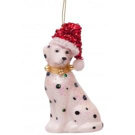Kerstbal Dalmatier met Muts