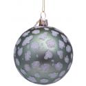 Kerstbal Mat groen met Luipaard Print