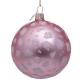 Kerstbal Mat roze met Luipaarden Print