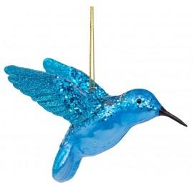 Kerstbal Kolibrie Blauw