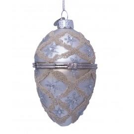 Kerstbal Faberge Ei Zilver