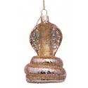 Kerstbal Cobra Goud met Diamantjes