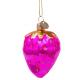 Kerstbal Aardbei Hard-roze