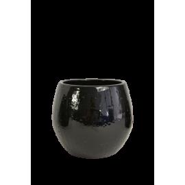 Bloempot Anna zwart D18