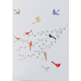 Dubbele kaart Birds on a Branch