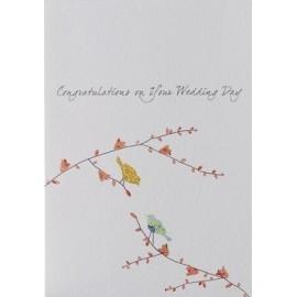 Dubbele kaart Two Birds Wedding