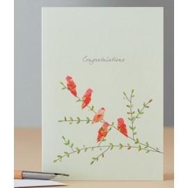 Dubbele kaart Lovebirds Congratulations