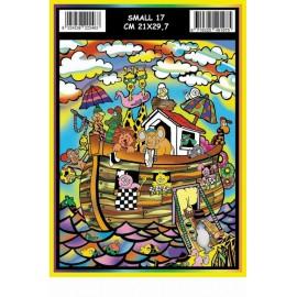 Vilten Kleurplaat Ark van Noah met Viltstiften