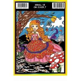 Vilten Kleurplaat Prinses met Viltstiften