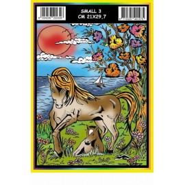 Vilten Kleurplaat Paard met Viltstiften