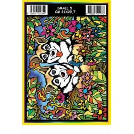 Vilten Kleurplaat Husky's met Viltstiften