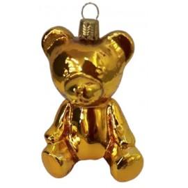 Kerstbal Teddy Beer Goud