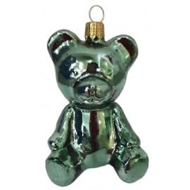 Kerstbal Teddy Beer Groen