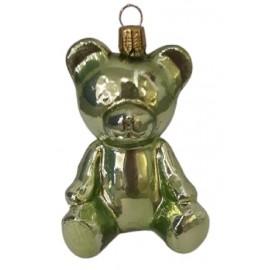 Kerstbal Teddy Beer Emerald